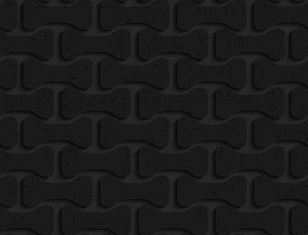 Black textured plastic rounded bolts.Seamless abstract geometrical pattern with 3d effect. Background with realistic shadows and layering.