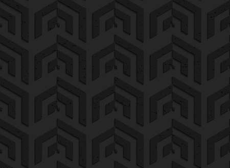 perforated: Black textured plastic vertical corner grid.Seamless abstract geometrical pattern with 3d effect. Background with realistic shadows and layering. Illustration