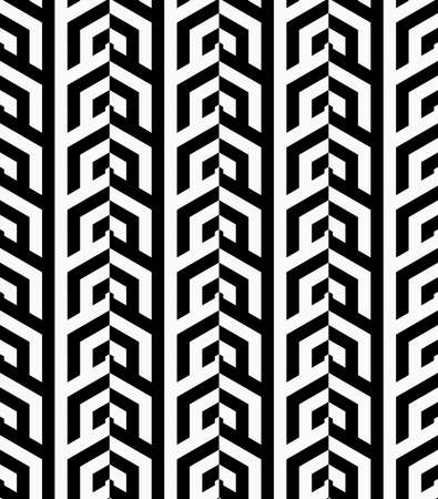 tillable: Black and white vertical rows.Seamless stylish geometric background. Modern abstract pattern. Flat monochrome design. Illustration