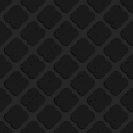tillable: Black textured plastic rounded squares.Seamless abstract geometrical pattern with 3d effect. Background with realistic shadows and layering.
