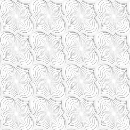 perforated: Colored 3D gray twisted diagonal Marrakech.Seamless geometric background. Modern 3D texture. Pattern with realistic shadow and cut out of paper effect. Illustration