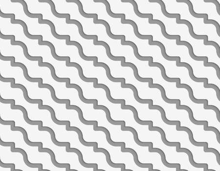 perforated: Perforated diagonal waves.Seamless geometric background. Modern monochrome 3D texture. Pattern with realistic shadow and cut out of paper effect.