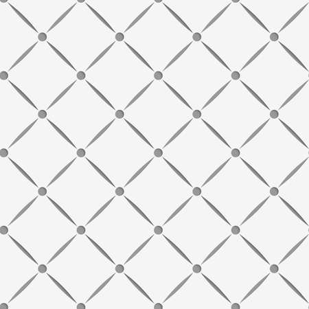 Perforated square grid with nods.Seamless geometric background. Modern monochrome 3D texture. Pattern with realistic shadow and cut out of paper effect.