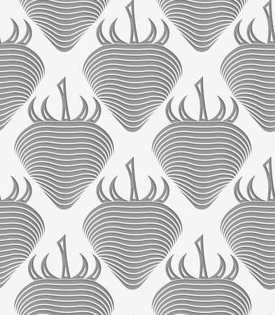 Fraise perforé de fond géométrique. Moderne texture 3D monochrome. Motif avec des ombres réalistes et découper de l'effet de papier. Banque d'images - 46322821