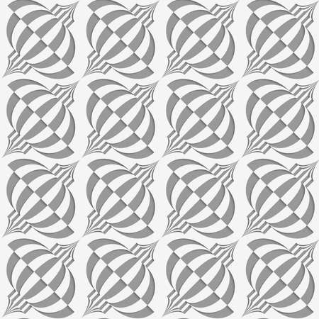 perforated: Perforated diagonal Chinese lanterns.Seamless geometric background. Modern monochrome 3D texture. Pattern with realistic shadow and cut out of paper effect. Illustration