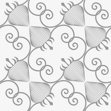 Perforated striped diagonal strawberry.Seamless geometric background. Modern monochrome 3D texture. Pattern with realistic shadow and cut out of paper effect. Banco de Imagens - 46323049