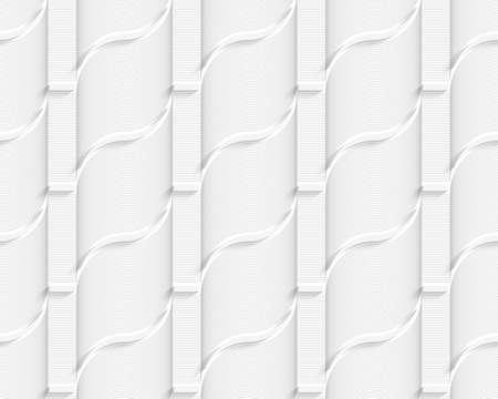 Coloré 3D gris rayé ribbons.Seamless fond géométrique. Moderne texture 3D. Motif avec des ombres réalistes et découper de l'effet de papier. Banque d'images - 46323123