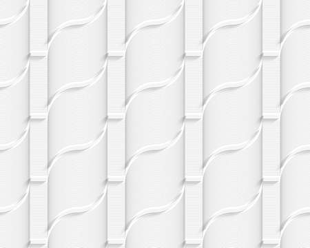Colored 3D gray striped ribbons.Seamless geometric background. Modern 3D texture. Pattern with realistic shadow and cut out of paper effect. Illustration
