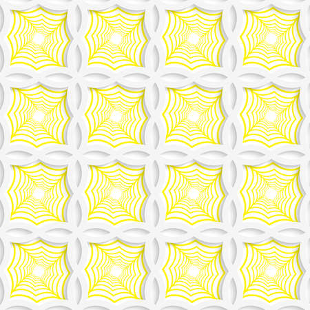 tillable: Colored 3D yellow striped pointy squares.Seamless geometric background. Modern 3D texture. Pattern with realistic shadow and cut out of paper effect. Illustration