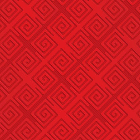 perforated: Red diagonal square spirals.Seamless geometric background. 3D layered and textured pattern with realistic shadow and cut out effect.