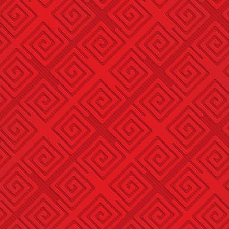 Spirales carrées diagonales rouges. Fond géométrique sans soudure. Modèle 3D en couches et texturé avec une ombre réaliste et un effet de découpe. Banque d'images - 46323568