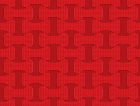 tillable: Red checkered bolts.Seamless geometric background. 3D layered and textured pattern with realistic shadow and cut out effect.