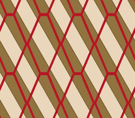 Rétro 3D brun et rouge diamant net.Abstract modèle en couches. Fond de couleur vive avec des ombres réalistes et te effet tridimensionnel. Banque d'images - 46325030