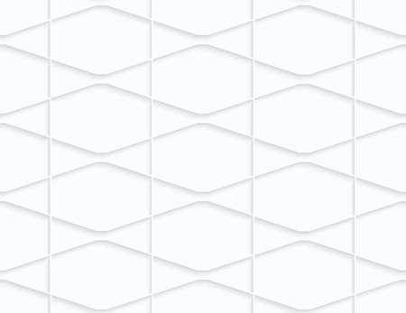Quilling hexagones en papier squished blanc et triangles.White fond géométrique. Seamless. 3d découpé hors de l'effet de papier avec des ombres réalistes. Banque d'images - 46325035