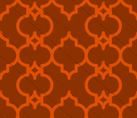 tillable: Retro 3D brown Marrakech.Abstract layered pattern. Bright colored background with realistic shadow and thee dimensional effect.