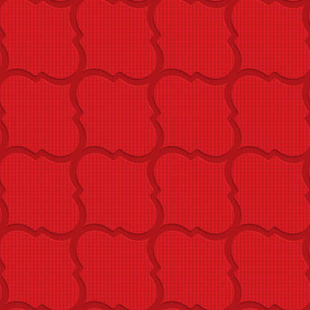 tillable: Red checkered diagonal Marrakesh.Seamless geometric background. 3D layered and textured pattern with realistic shadow and cut out effect.