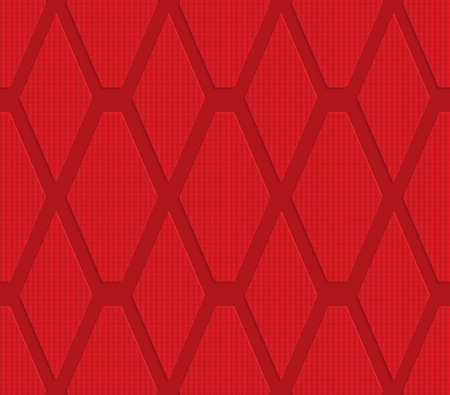 layered: Red checkered diamonds.Seamless geometric background. 3D layered and textured pattern with realistic shadow and cut out effect.