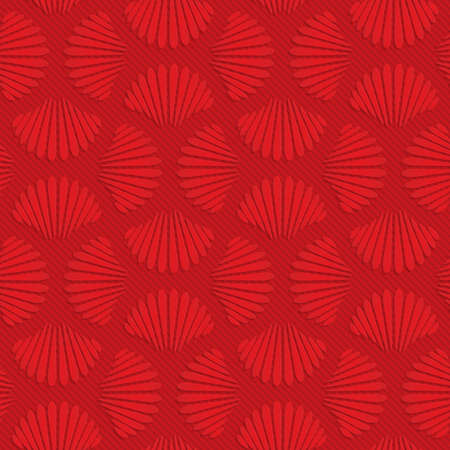 layered: Red pedals in turn.Seamless geometric background. 3D layered and textured pattern with realistic shadow and cut out effect.