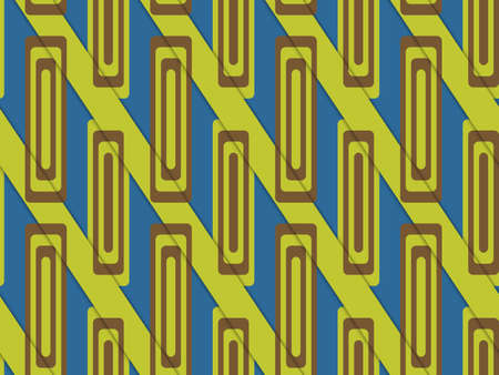 diagonally: Retro 3D blue and green diagonally cut with rectangles.Abstract layered pattern. Bright colored background with realistic shadow and thee dimensional effect.