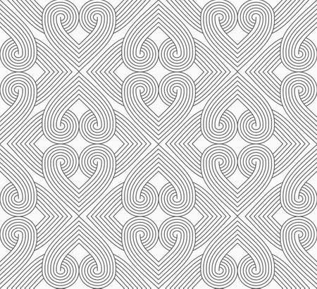 Gris Slim éclos coeurs formant rectangles.Seamless élégant fond géométrique. Moderne motif abstrait. Flat design monochrome. Banque d'images - 46326560