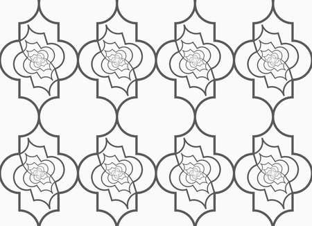 twisted: Slim gray vertical Marrakesh twisted grid.Seamless stylish geometric background. Modern abstract pattern. Flat monochrome design.
