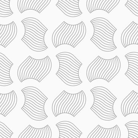 tillable: Slim gray hatched separated pedals in turn.Seamless stylish geometric background. Modern abstract pattern. Flat monochrome design.