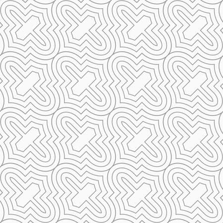 Slim gray diagonal Marrakesh grid.Seamless stylish geometric background. Modern abstract pattern. Flat monochrome design. Illustration