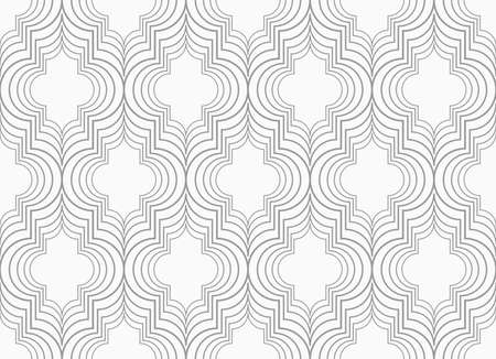 tillable: Slim gray vertical Marrakesh grid.Seamless stylish geometric background. Modern abstract pattern. Flat monochrome design.