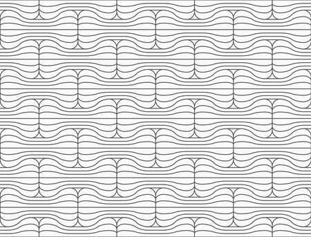 Slim gray striped rounded bolts.Seamless stylish geometric background. Modern abstract pattern. Flat monochrome design. Illustration