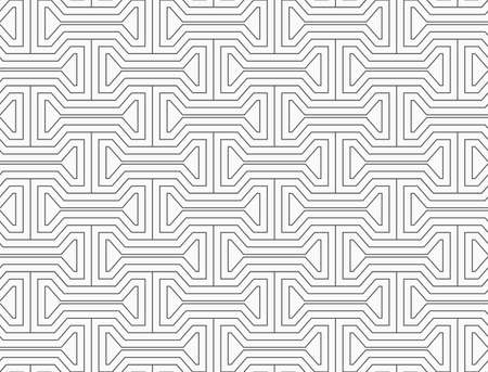 tillable: Slim gray bolts with offset.Seamless stylish geometric background. Modern abstract pattern. Flat monochrome design. Illustration