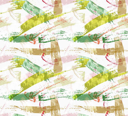 spalsh: Rough brush overlapping green paint strokes.Abstract colorful seamless background. Stained and grunted texture over hand drawn paint brush ornament.