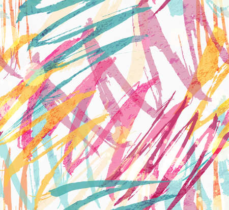spalsh: Rough brush colored and stained.Abstract colorful seamless background. Stained and grunted texture over hand drawn paint brush ornament.