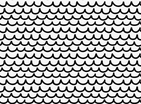 tilable: Black marker drawn simple fish skin.Hand drawn with paint brush seamless background. Abstract texture. Modern irregular tilable design. Illustration