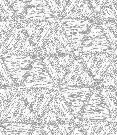 hatched: Pencil hatched gray hexagons.Hand drawn with brush seamless background.Modern hipster style design.