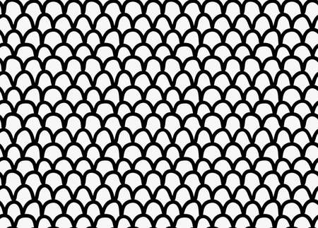 Black marker drawn simple dragon skin.Hand drawn with paint brush seamless background. Abstract texture. Modern irregular tilable design.