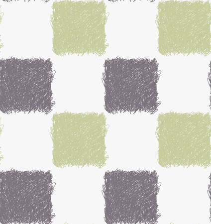 hatched: Pencil hatched gray and green squares.Hand drawn with brush seamless background.Modern hipster style design.