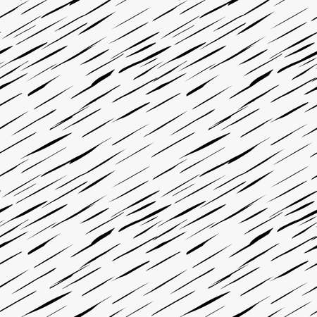 Black marker drawn simple diagonal slim hatches.Hand drawn with paint brush seamless background. Abstract texture. Modern irregular tilable design.