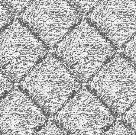 Pencil hachurée carrés gris foncé .Hand dessiné avec un design brosse background.Modern seamless style hipster.