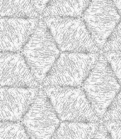 hatched: Pencil hatched light gray cubes.Hand drawn with brush seamless background.Modern hipster style design.