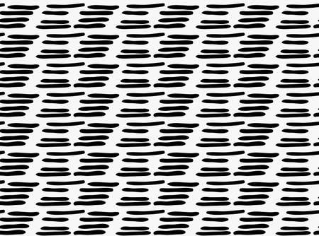 tilable: Black marker drawn simple dashes.Hand drawn with paint brush seamless background. Abstract texture. Modern irregular tilable design.