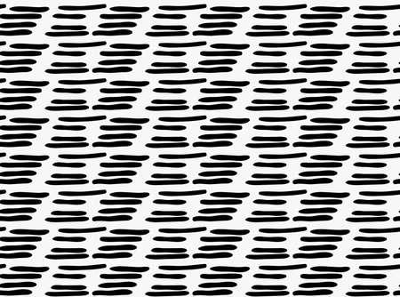 Marqueur noir tiré de tirets simples. Tiré avec un fond transparent sans pinceau. Texture abstraite. Conception moderne inclinable irrégulière. Vecteurs