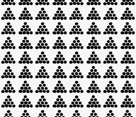 tilable: Black marker drawn simple dots forming triangles.Hand drawn with paint brush seamless background. Abstract texture. Modern irregular tilable design.
