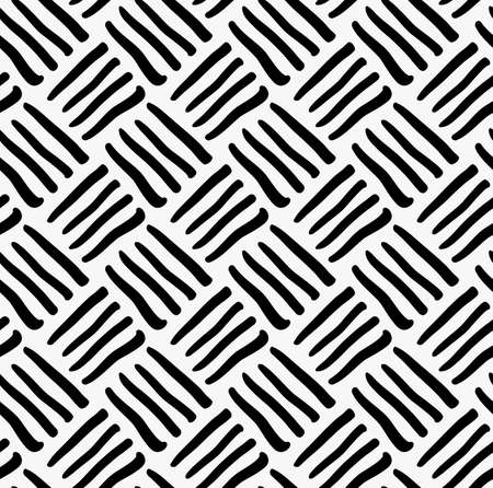 tilable: Black marker drawn diagonal stripes.Hand drawn with paint brush seamless background. Abstract texture. Modern irregular tilable design. Illustration