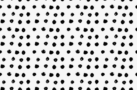 tilable: Black marker scribble dots.Free hand drawn with ink brush seamless background. Abstract texture. Modern irregular tilable design.