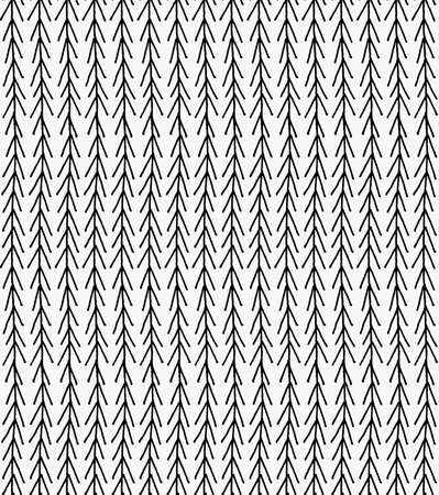 tilable: Black marker vertical chevrons.Free hand drawn with ink brush seamless background. Abstract texture. Modern irregular tilable design. Illustration