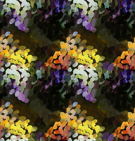 Mosaic with orange and purple.Mosaic multicolored seamless background.