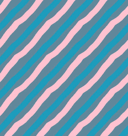 hand brushed: Blue and pink diagonal lines.Hand drawn with ink and colored with marker brush seamless background.Creative hand made brushed design.