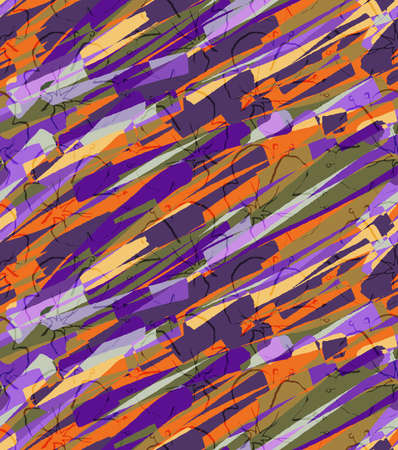 hand brushed: Big purple flower on colored brushed background.Hand drawn with ink and colored with marker brush seamless background.Creative hand made brushed design.