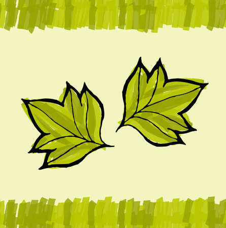 pointy: Two big pointy leaves.Hand drawn with ink and colored with marker brush seamless background.Creative hand made brushed design.Big flower collection.