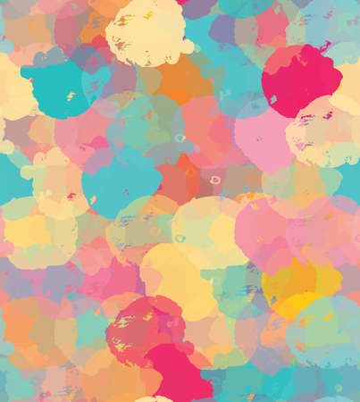 Paint stains green yellow and pink.Hand drawn with ink and marker brush seamless background.Colored paint overlapping stains and splashes creating artistic design backdrop.